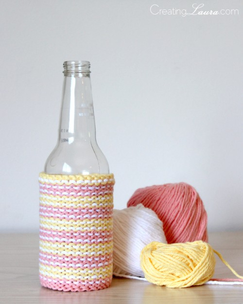 beer cozy knitting pattern (via creatinglaura)