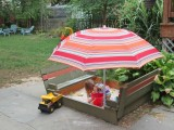 sandbox with benches and lid
