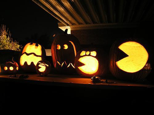 Cool Pacman Pumpkins