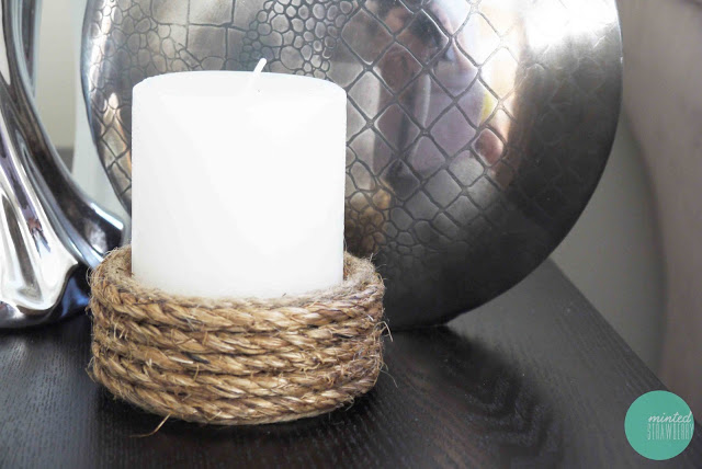 rope wrapped candle holder