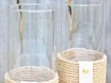 rope candle holder