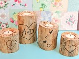 heart tree candle holder