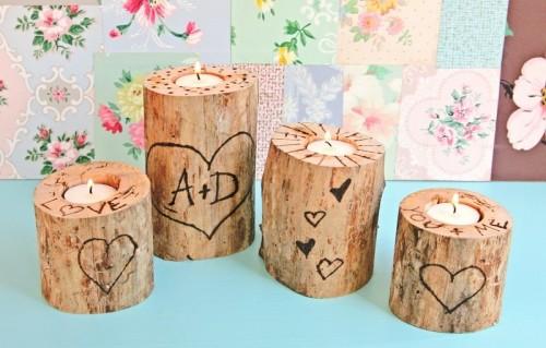heart tree candle holder (via mysocalledcraftylife)