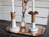 pastel dip dye candle sticks