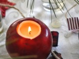 fresh apples candle holder