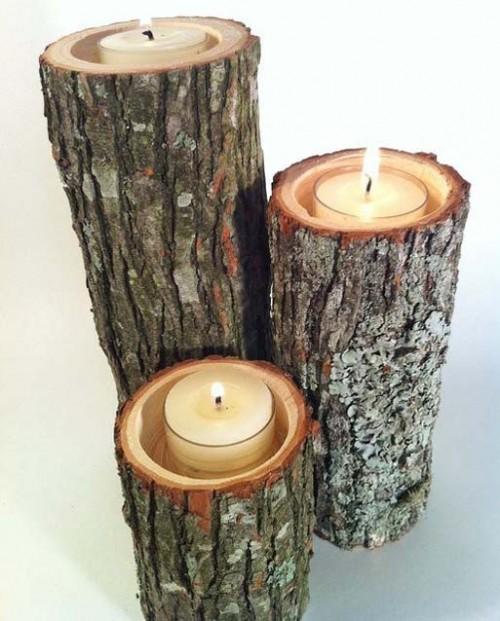 tree branch candle holders (via plectrumbanjo)