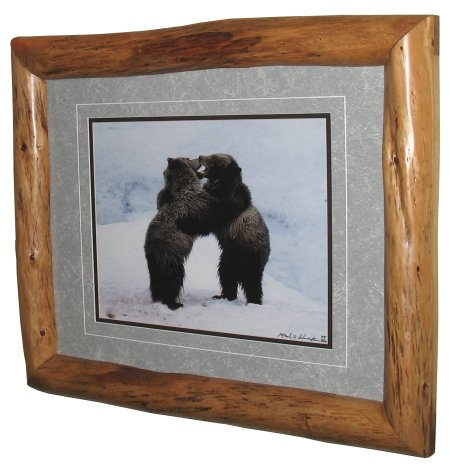 log picture frame (via logcabindirectory)