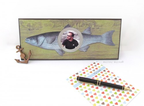 fish-themed rustic frame (via modpodgerocksblog)