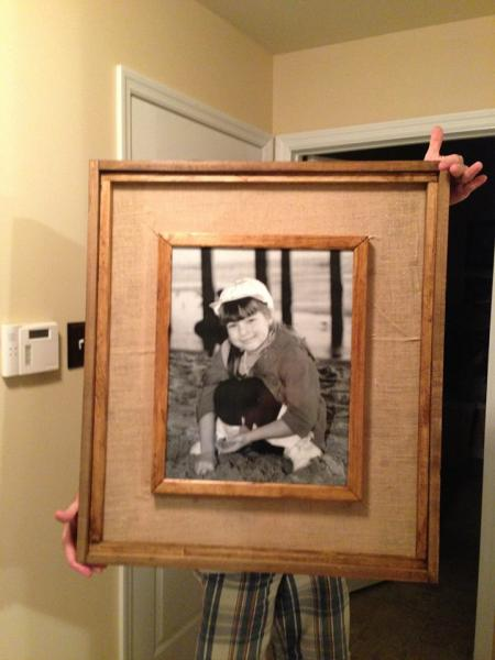 re-purposed picture frame (via ana-white)