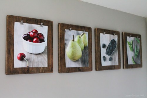 rustic photo clipboards (via lovegrowswild)