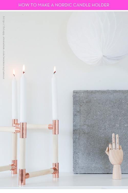 rustic diy nordic candleholders (via curbly)