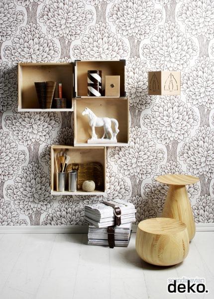 wooden boxes wall shelves (via scandinaviandeko)