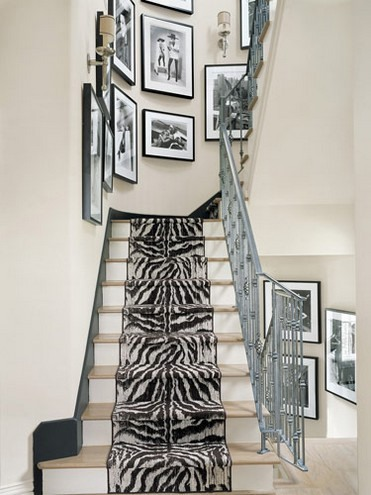 Zebra pattern is perfect to decorate stairs in a modern home.