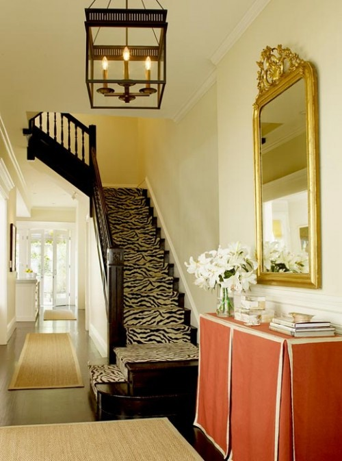 Once again, the zebra pattern is perfect addition to the design of any staircase.