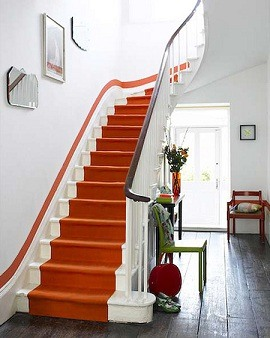 Contemporary Stair Runners Looks Good In Eclectic Interiors Too.