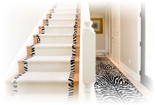 Lovely alternative to a runner that is covered with a zebra pattern.