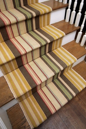 Stripes is a very popular choice for stair runners.