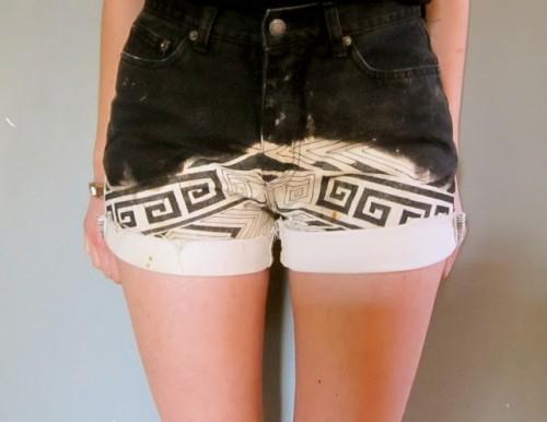 dip dye tribal shorts (via prudenceandaustere)