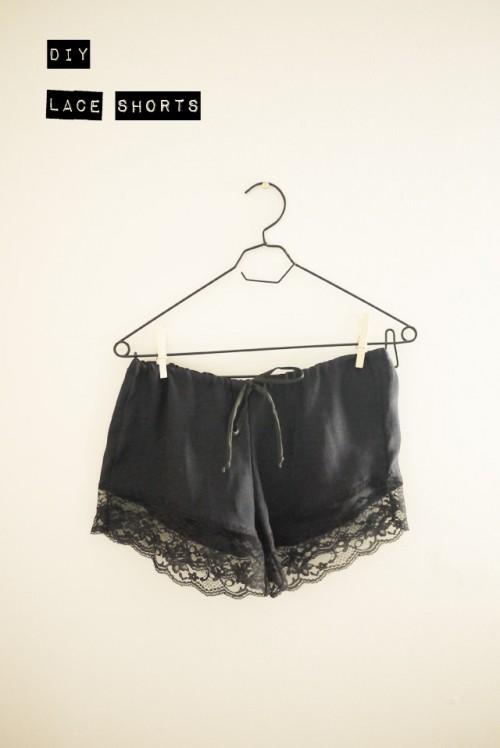 lace shorts (via project-twentytwo)
