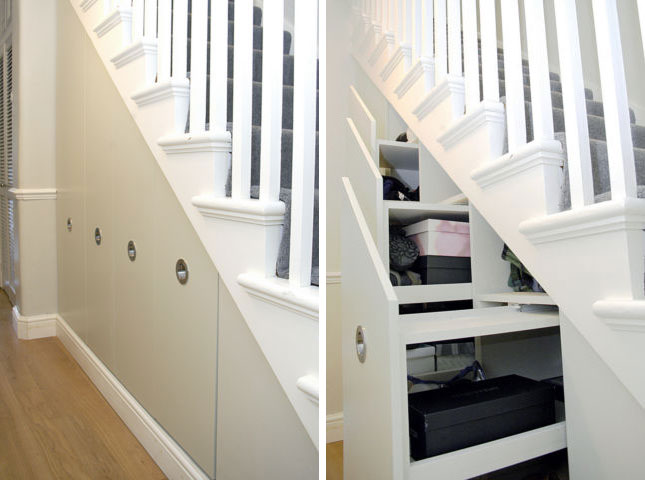 picture of cool under stairs storage ideas. Black Bedroom Furniture Sets. Home Design Ideas