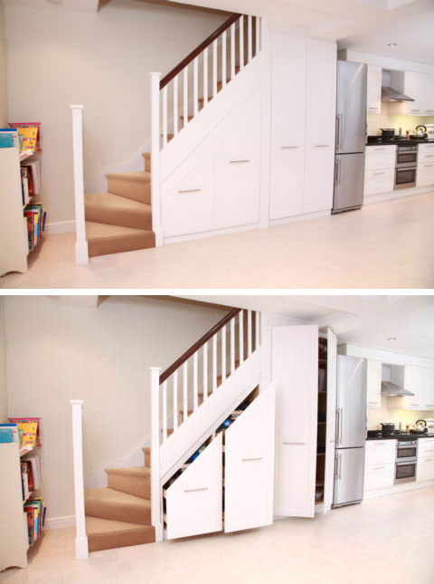 5 cool under stair storage ideas shelterness. Black Bedroom Furniture Sets. Home Design Ideas