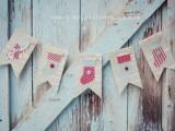 vintage stocking garland