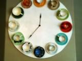 vintage teacups clock