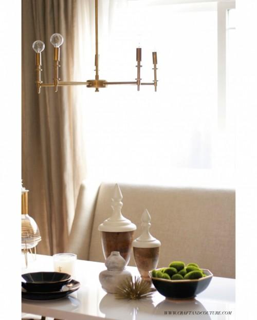 vintage brass chandelier (via craftandcouture)