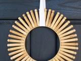 vintage clothespins wreath