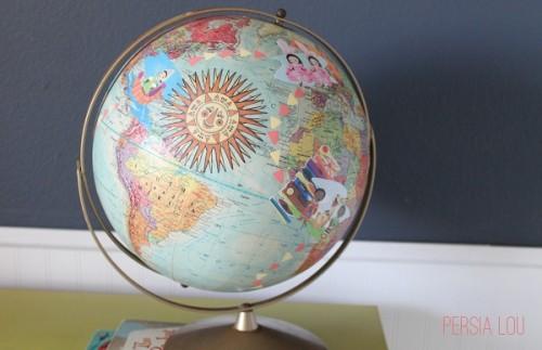 decoupage vintage globe (via persialou)