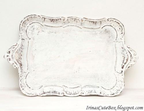 shabby chic style tray (via irinascutebox)