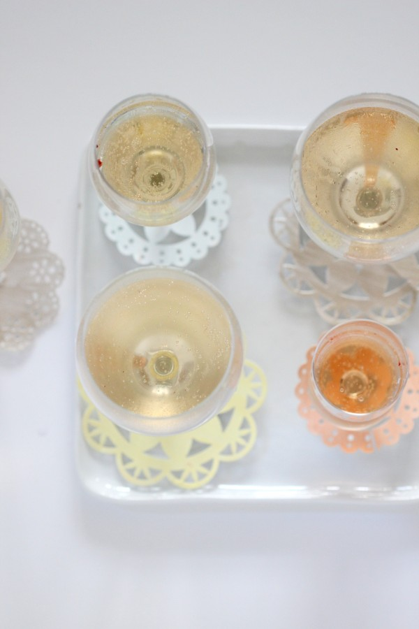 doily drink markers