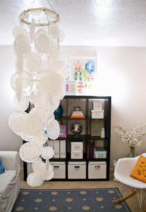 doily chandelier