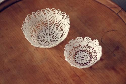 doily bowls (via simplette)