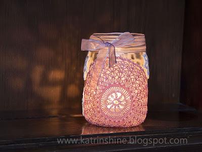 doily jar lanterns