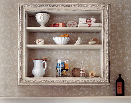 Cool Vintage Looking Diy Display Shelves