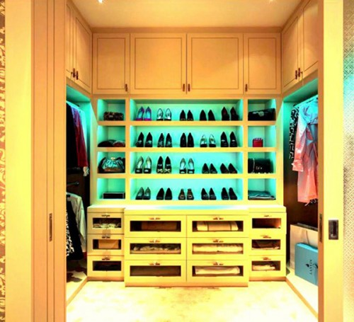 lighting your shoes might become a cool feature for your closet