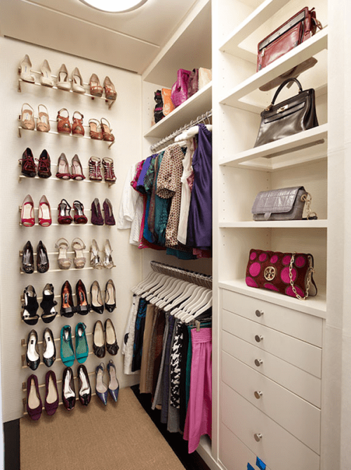 smart shoe organizer for a small wardrobe