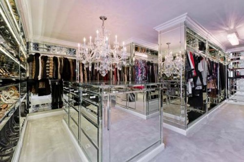 Cool Walk In Closets  lots of mirrors make this closet look even bigger  than it is