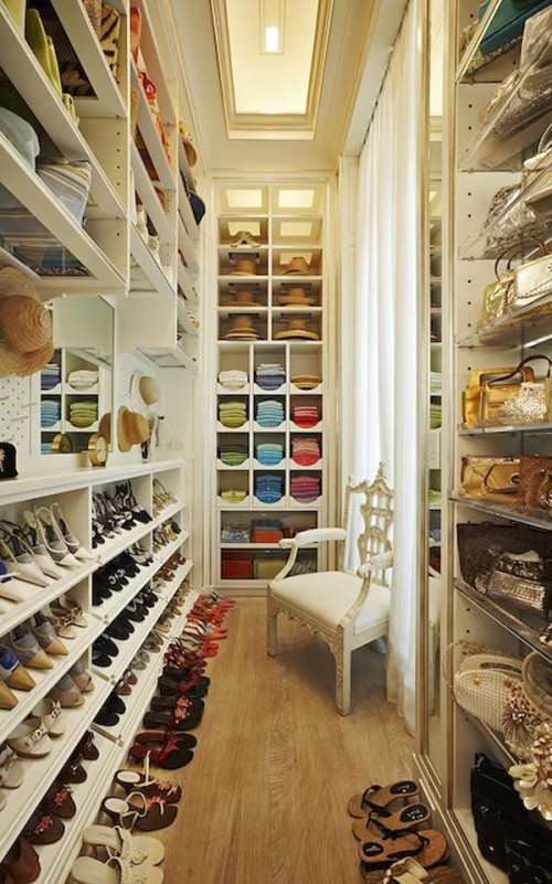 tall organizers is a very practical solution for any walk in closet