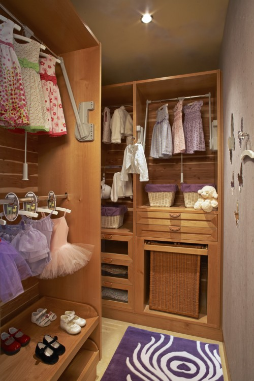little girl's walk in closet