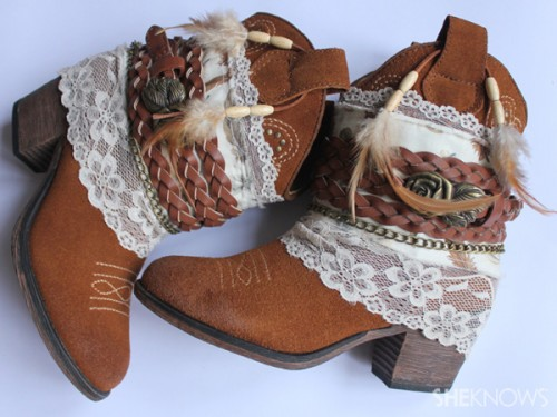bohemian decorated boots (via sheknows)