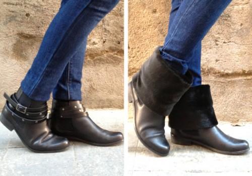 trendy fur boots refashion (via planb)