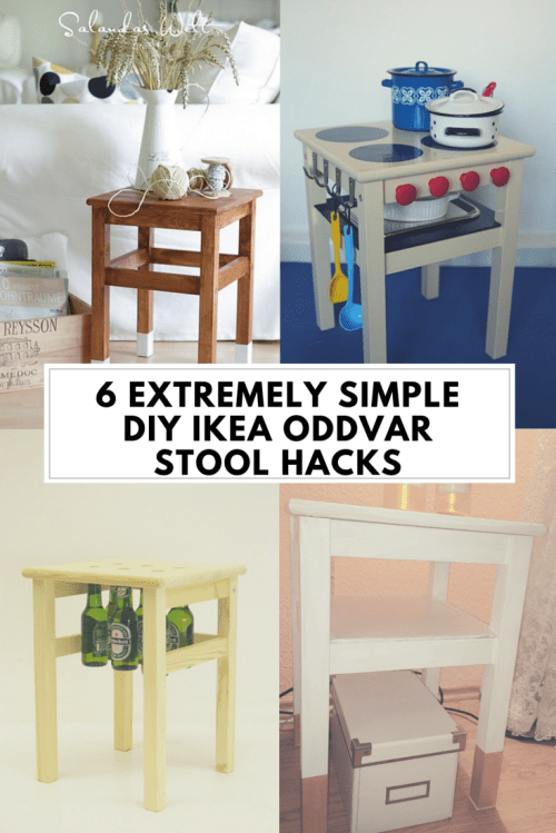 6 Extremely Simple DIY IKEA Oddvar Stool Hacks