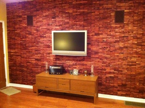 How To Cover Wall With Wood Shims