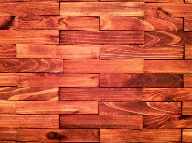 covering wall with wood shims 2 Top Wood Wall Coverings designs 2015