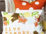 Cozy Diy Appliqued Fall Leaf Pillow