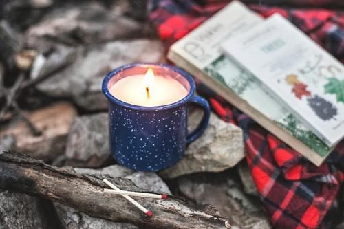 Cozy DIY Camp Mug Candle