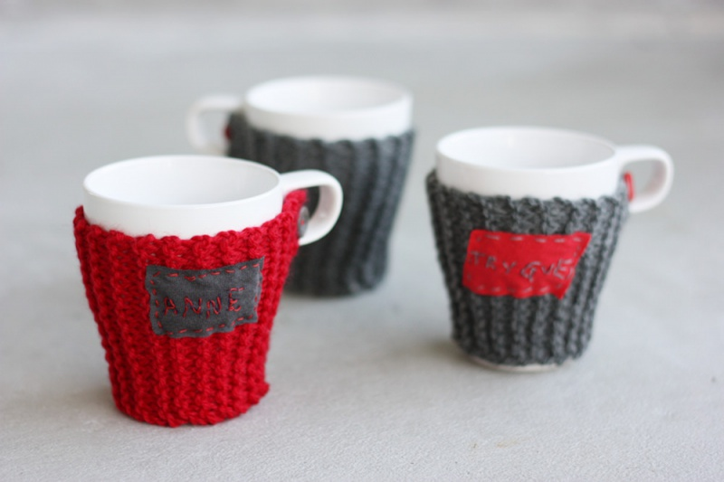 Christmas cup cozy