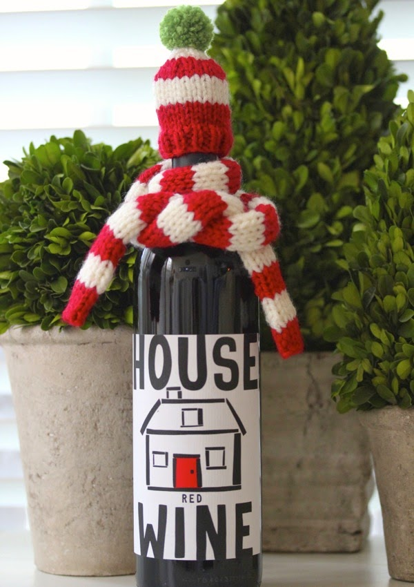 wine hat and scarf